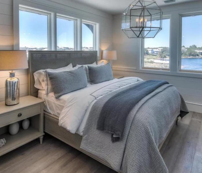 shiplap-bedroom-gray-accent-wall-window