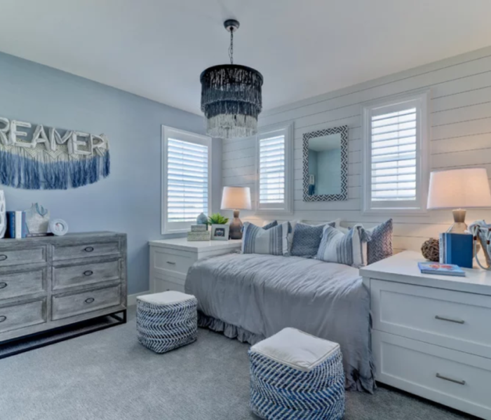 shiplap-bedroom-white-blue-accent-wall