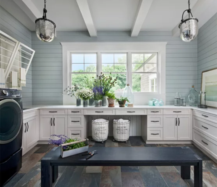shiplap-laundry-sage-room-white-cabinets
